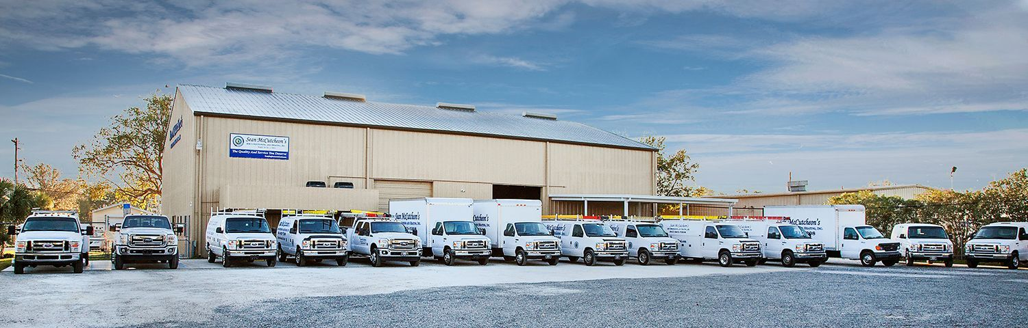 Sean McCutcheon's Air Conditioning and Heating's Sarasota headquarters and fleet.